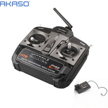 AKASO HT6 2.4G 6ch RC Transmitter Controller with HT6DR Receiver For RC Helicopter Plane  Quadcopter Glider drone