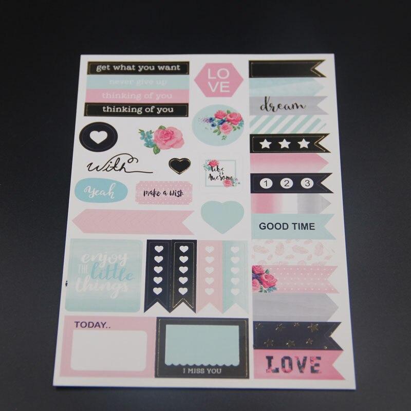 KLJUYP 6sheets Best Wishes Stickers Set for Scrapbooking