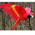 Большие 45x60 см крылья Красного попугая Модель Пена и перья имитация попугая птица ручной работы украшение для дома и сада подарок p0370