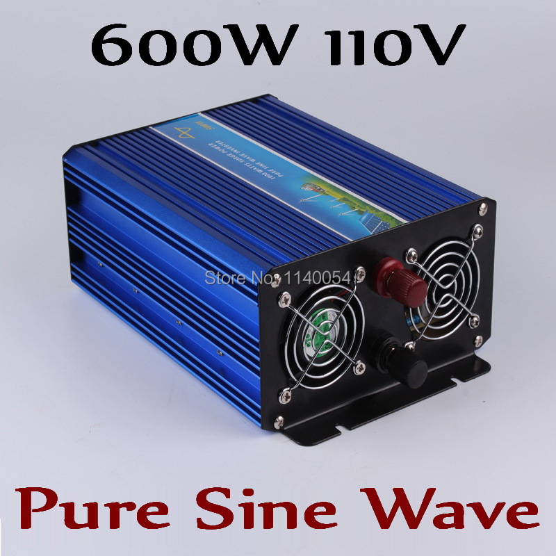 600W off grid inverter, pure sine wave inverter for solar and wind system 110V DC to AC 100/110/120/220/230/240V wind solar hybrid dc to ac pure sine wave off grid solar inverter 48v 110v 4000w