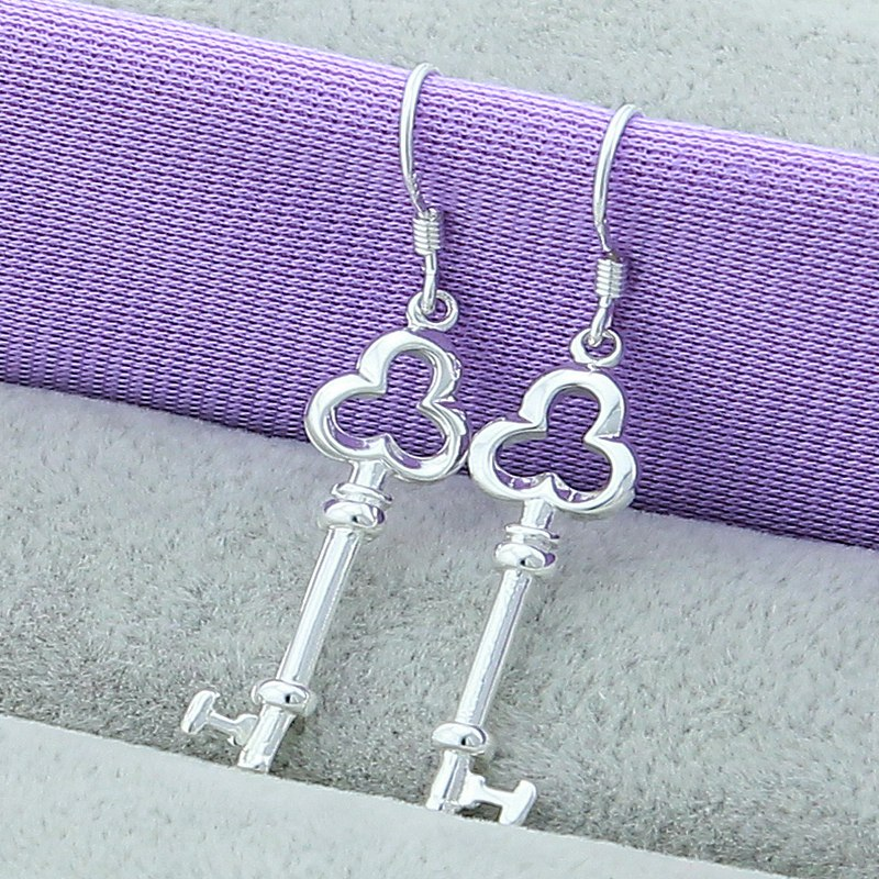 925 Sterling Silver Simple Drop Earrings 1