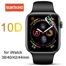 Suntaiho TPU Full Coverage Protector film For Apple Watch 4 40/44 Screen Protector for i Watch Series 1/2/3 38/42 mm (Not Glass)