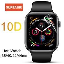 Suntaiho Tpu Volledige Dekking Protector Film Voor Apple Horloge 4 40/44 Screen Protector Voor I Horloge Serie 1/2/3 38/42 Mm (Geen Glas)