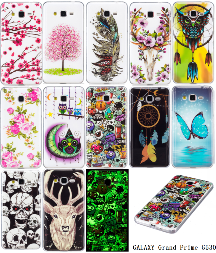 Luminous G531F Cases For Samsung Galaxy Grand Prime Value SM-G531H/DS TV SM-G531BT Soft TPU Silicon IMD Glossy Cases Back Covers