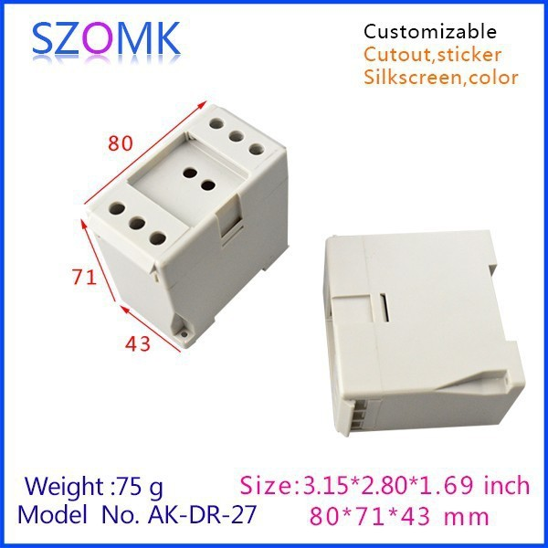 1 piece, 2015 new abs electrical din rail boxes 80*71*43mm small ...