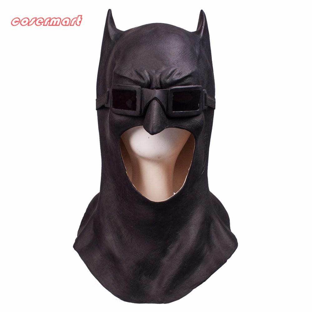 Batman Masks Full Head Latex Batman Vs Superman Masks With Glasses Dark Knight  Mask Cosplay Batman Masks Halloween Party (8)