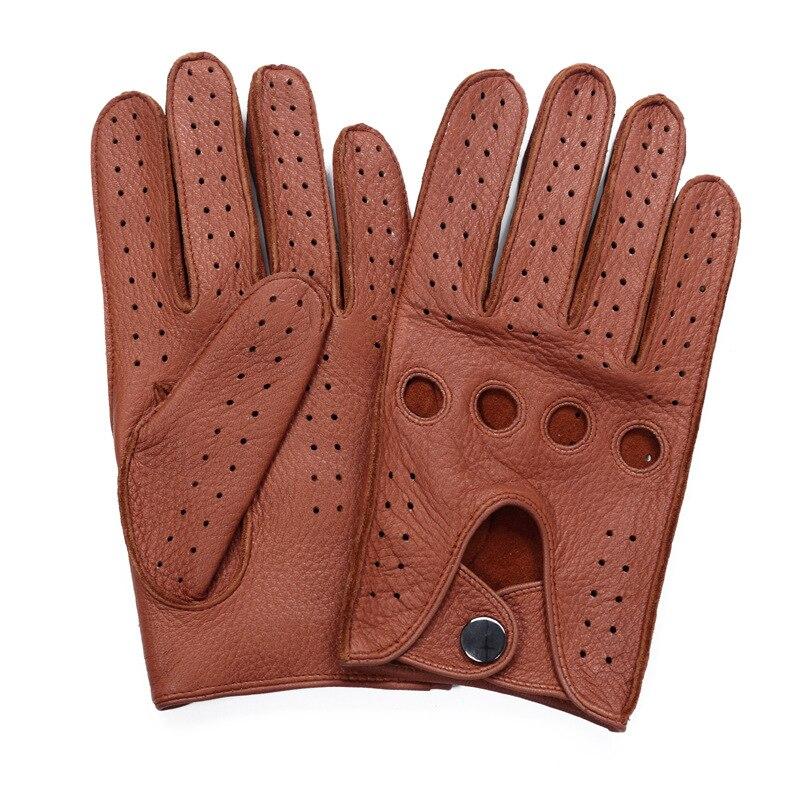 Haute qualité hommes 2018 nouvelle offre spéciale Deerskin gants quatre saisons mode conduite en cuir véritable complet doigt gants hommes AM032-5