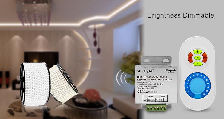 Mi. Светильник FUT041 DC12V 24V 433 МГц Светодиодная лента Диммер Яркость диммируемая для