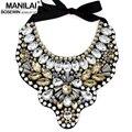 MANILAI Mujeres Handmade Exaggerate Collar de Bolas de Cristal Grande Collar Babero Declaración de Moda Collares Joyas Bijoux femme Maxi