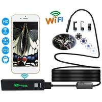 Newest 8mm 1200P Wifi Endoscope Camera Soft Hard Line Waterproof Snake Camera Endoscopio HD Wifi Video