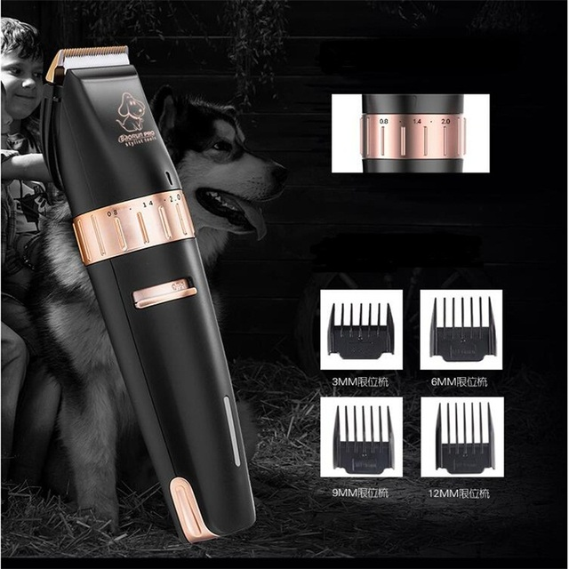 Professional electric pet dog hair trimmer cat dog grooming scissors ceramic hair cutting machine pet dog shaver