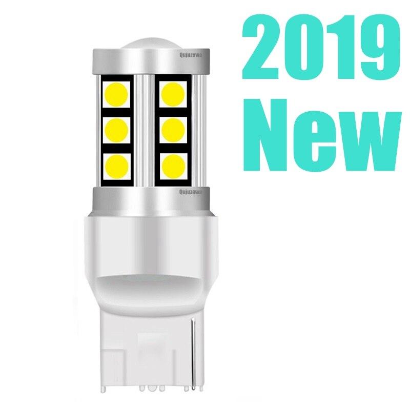 Высококачественные светодиодные автомобильные лампы заднего хода T20 7440 W21W WY21W 3030, тормозные лампы, сигналы поворота, Автомобильные дневные ...