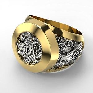 Stainless Steel Masonic Ring f