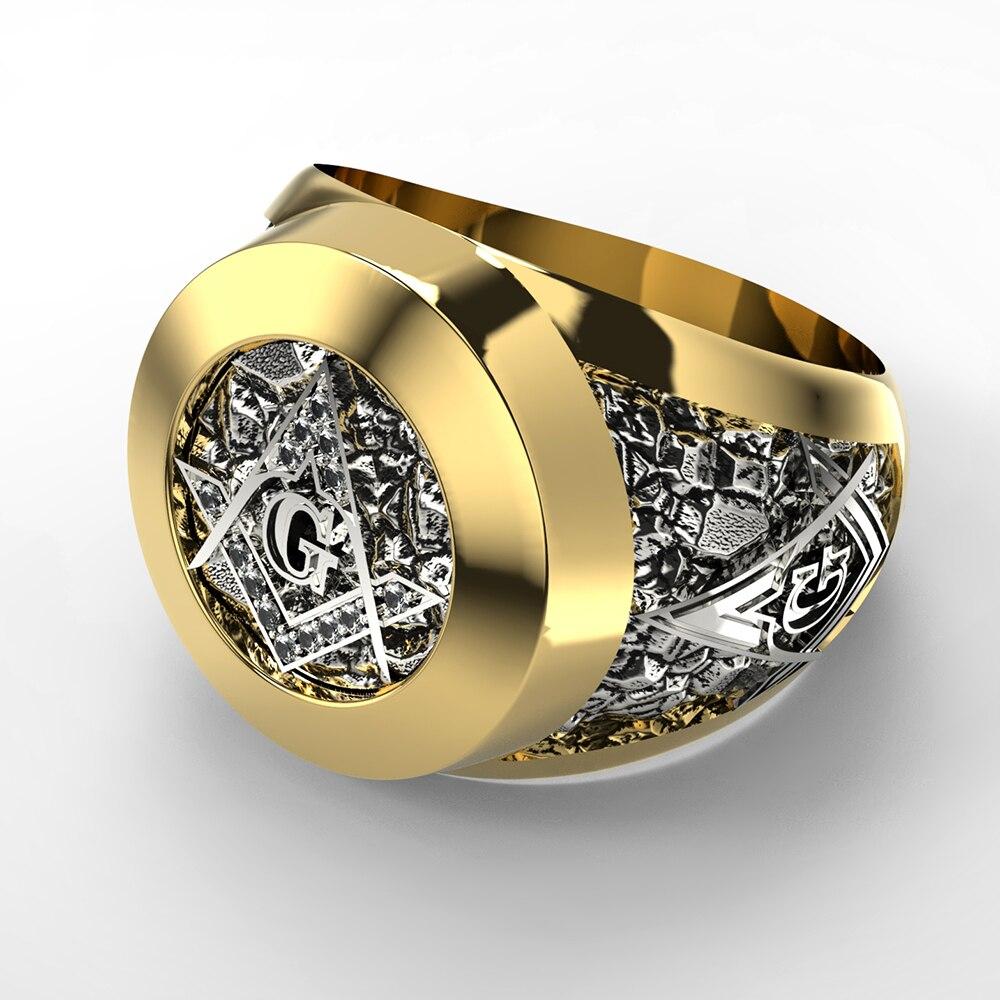 eejart Stainless Steel Masonic Ring for Men Freemason