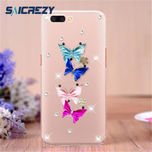 Saicrezy Bling Rhinestone Case Cover Handmade 3D Cute Glitter Phone Case  Cover For OPPO R7 R7S R9 R9S R11 R11S plus 417def19b6d5