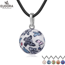 Angel Caller Sweet Color Pattern Mexico Bola Nice Sounds Porcelain Harmony Pregnancy Chime Ball Pendant Necklace Women Jewelry