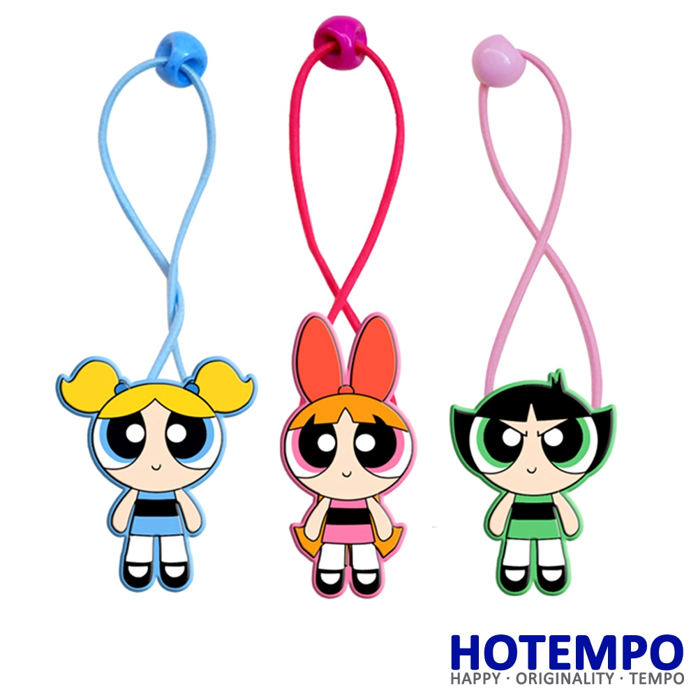 HOTEMPO Blossom Bubbles Buttercup Action Figure Powerpuff Girls Cartoon TV Figure Toys Kid Hair Band Figure Hair Ring in Hair Accessories from Mother Kids