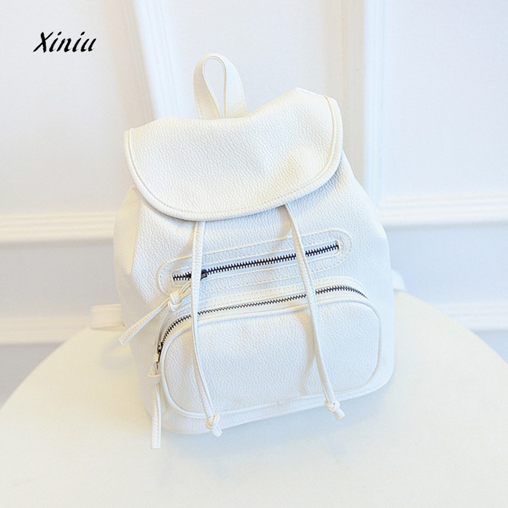 High Quality Women Girl Leather Shoulder School Bag Backpack Travel Satchel Rucksack Backpack PU Girls Shoulder Bag Mochila