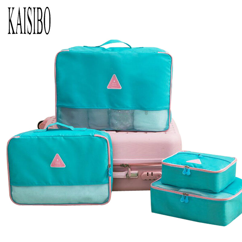 KAISIBO 4Pcs set Women Makeup Necessaries Travel Organizer Bag Large Storage Bag Folding Waterproof Multifunction Travel