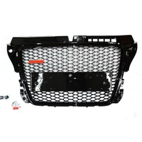 MODIFIED FRONT MASK BUMPER MESH MASK COVER GRILL RS GRILLE GRILLS FIT FOR A3 2008 2013 2014 2016 AUTO EXTERIOR PARTS