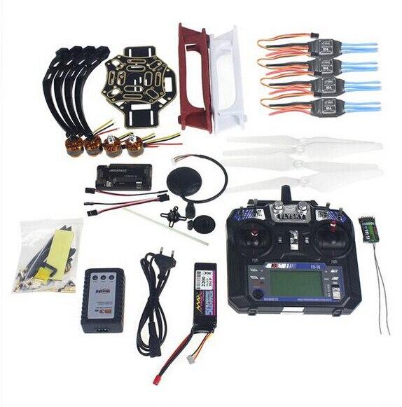 Полный Набор RC Drone Квадрокоптер 4-осный Самолет Комплект F450-V2 Рамка GPS APM2.8 Управления Полетом FS-i6 Передатчик F02192-Y