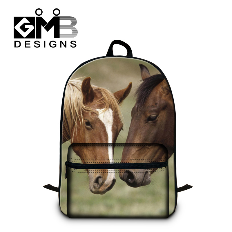Horse School Backpacks for Teenagers,Cool Day Pack for Adults Computer bag bookbags for college,girls mochila back pack for boys