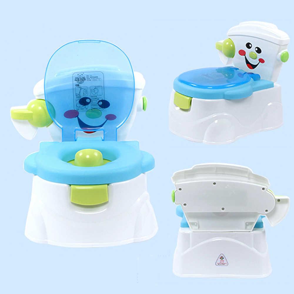 Детские горшок Potties пластиковое обучающее сиденье мультфильм ребенок Туалет сложенный портативный тренировочный Горшок детский туалет стул для детей