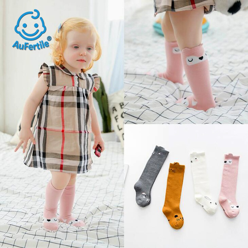 In The Tube Socks, Child Pinky Promise Baby Sock,Cartoon Stereoscopic Animals baby Cotton socks Rabbit Fox Squirrel Cat