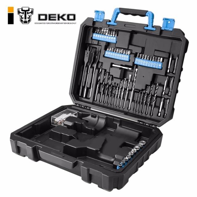 DEKO BMC פלסטיק כלי מקרה עבור 20 v תרגיל אלחוטי GCD20DU3 לא כולל תרגיל אלחוטי עם 85 מקדחי צולל סיביות מחזיק