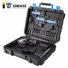 DEKO BMC Plastic Tool Case for 20V Cordless Drill GCD20DU3 not include Cordless Drill with 85 Drill Bits Diver Bits Bits Holder(China)