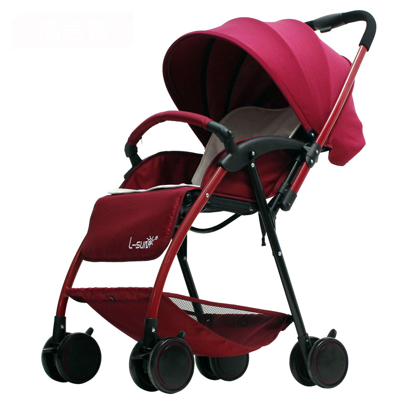 Baby stroller 5KG Super Light Folding Umbrella carts Can Sit can LieTwo-way trolley baby High Landscape Baby Stroller