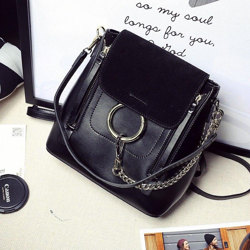 Здесь продается  2017 winter leather suede nubuck leather shoulder bag handbag chain ring leisure bag  Камера и Сумки