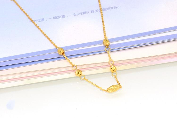 18K rose gold gold car flower beads bracelet female models18K rose gold gold car flower beads bracelet female models