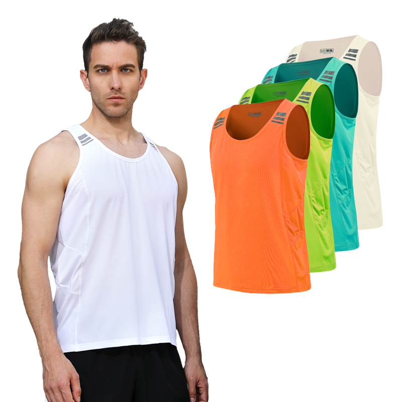Mens Running Vest Gym Sleeveless Shirt Summer Slim Tank XS-3XL 2018 Men Sport Vest Top New Workout Training Man Singlet lole топ lsw1316 central tank top xs chillies