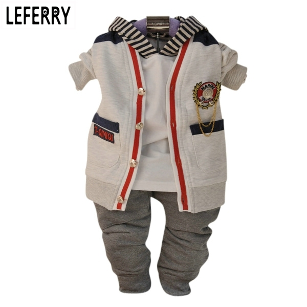 Baby Boy Clothes Sets 3PCS Newborn Infant Clothing Baby Boy Toddler Clothes Kids Baby Kleding Outerwear 2016 New Autumn