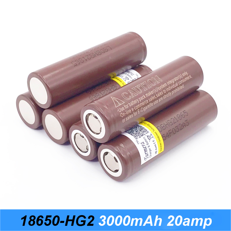 HG2 18650 3000mah font b electronic b font cigarette Rechargeable battery power high discharge 30Amps large