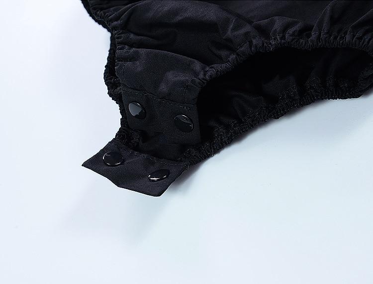 CN zomer baby meisje bodysuits katoen kant zwart mouwloos Jumpsuit - Babykleding - Foto 6
