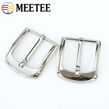 Meetee 5pcs 40mm Width Metal Alloy Belt Buckle Cowboy Pin for Men Jeans Accessories DIY Leather Craft Hardware