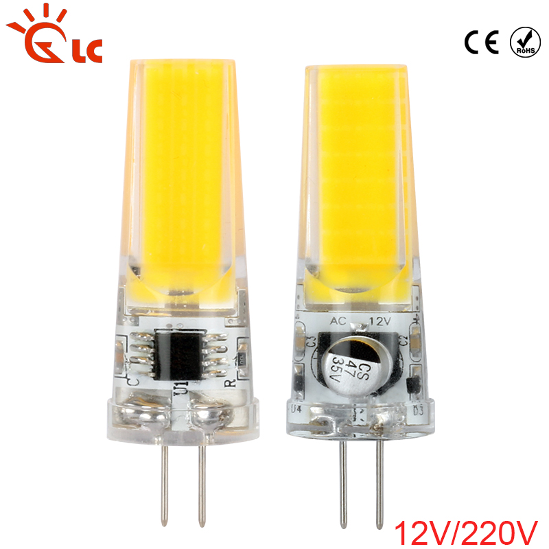 LED <font><b>G4</b></font> Lamp Bulb COB SMD AC/DC <font><b>12V</b></font> <font><b>2W</b></font> 3W AC220v LED Lighting Lights Replace Halogen <font><b>G4</b></font> LED Lamp For Chandelier image