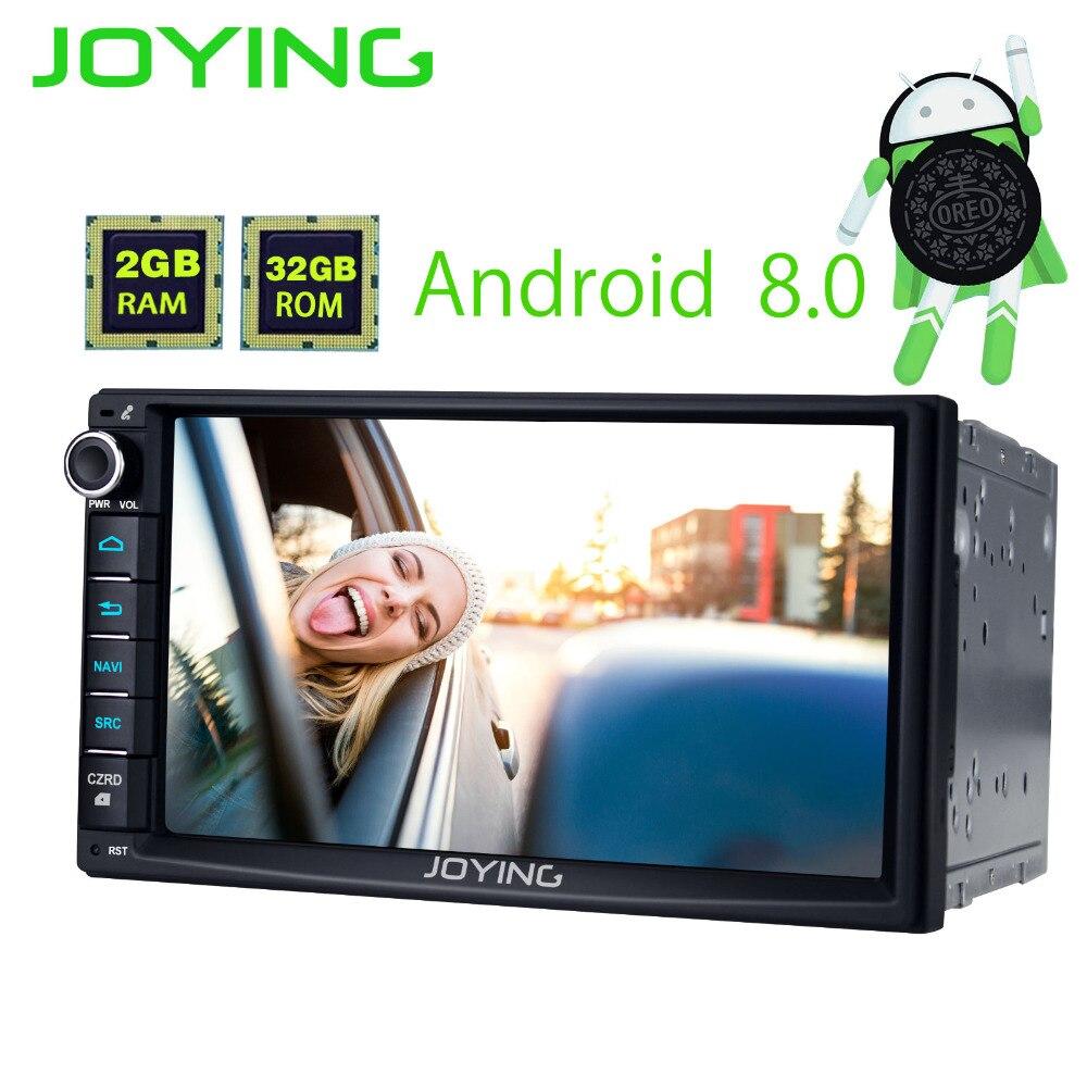 JOYING 2GB RAM Android 8.0 2 Din Tape recorder Stereo HD 7'' GPS Player BT Car Radio Octa 8 Core Head unit support apple-carplay