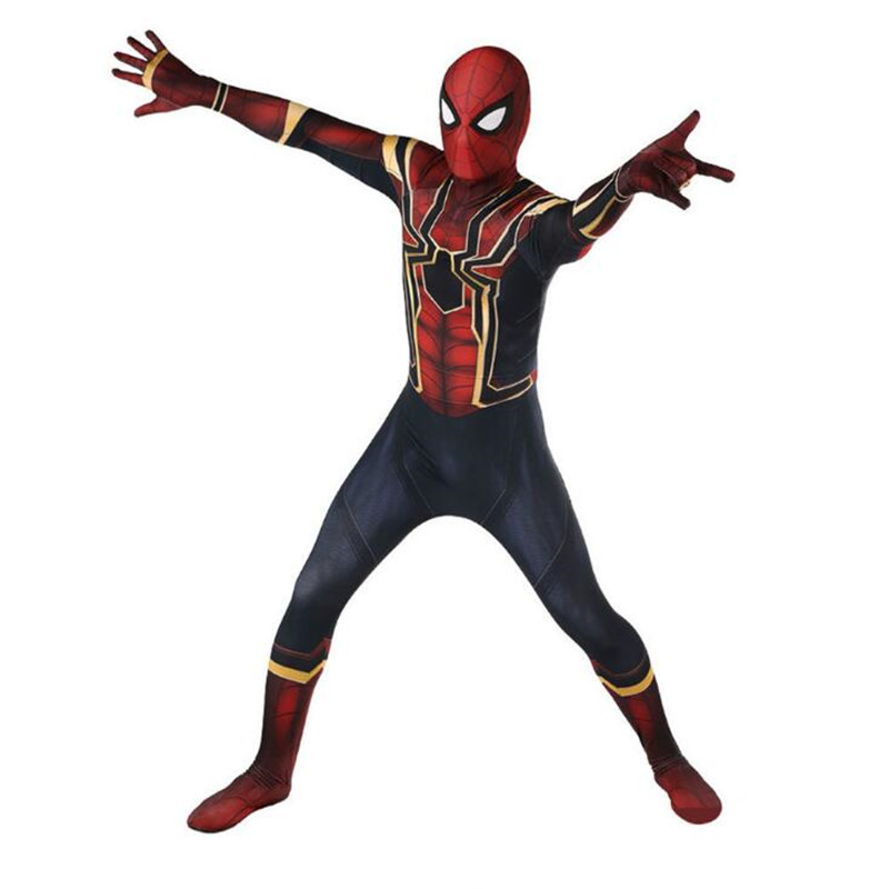 5b6c1160c1 New Style Movie Spider Man Homecoming Cosplay Costumes Tom Holland ...
