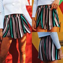 Casual Shorts Women Fashion Stripe Print Summer Sport Elastic Shorts spodenki jeansowe damskie 2020 spodenki damskie cheap YOUYEDIAN Polyester REGULAR Loose Women Shorts Elastic Waist NONE