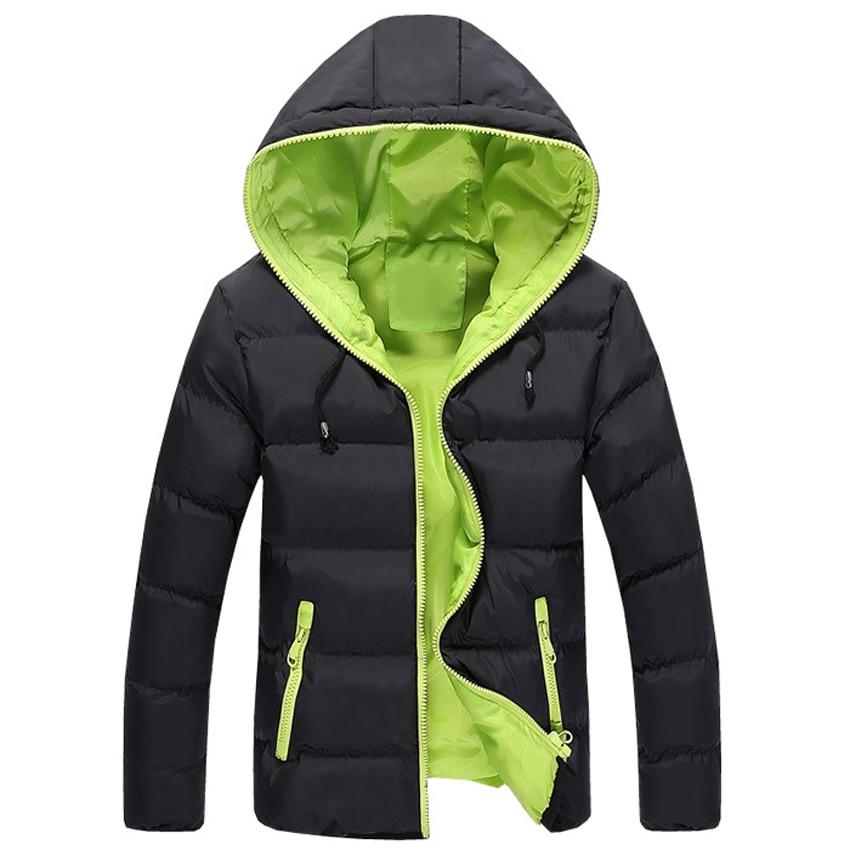 Güz Kış erkek Aşağı Kapüşonlu Ceket Parkas Gençlik Moda Ince Rahat Kısa Ceket Adam Kalın Tüy Parka Şeker Renkler M ~ XXXL