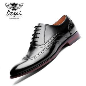 acf4697585a4 DESAI Leather Oxford Shoes Formal Men Dress Shoes