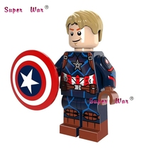 1PCS super heroes marvel Captain America Battle of the Atom building blocks models bricks font b