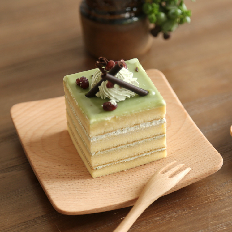 Online Shop Japan Zakka Style Wooden Serving Tray Cake Bread Breakfast Mini Plates Sushi Square Food Container No Plaint 4 Inch Wood | Aliexpress Mobile : cake serving plates - pezcame.com