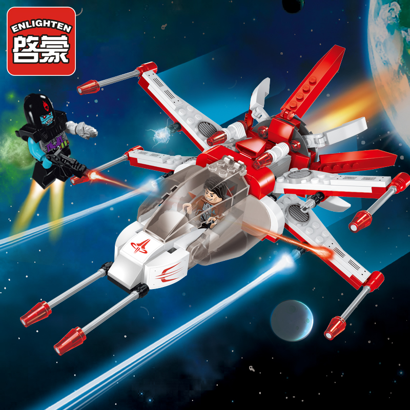 ENLIGHTEN Children Blocks Toys Space Adventure Bricks 207 PCS Assembly Building Blocks Educational Toys For Children Brinquedo legoe compatible enlighten bricks space shuttle space war diy educational toys for children gifts building blocks diy kit 593pcs