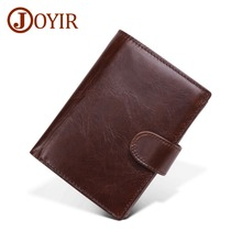 JOYIR Genuine Leather Men Wallets Casual Mens Wallet Male Small Coin Pocket Purses Cowhide For New