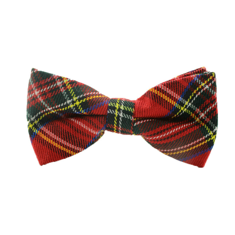 2015 gravata bow tie England cotton irvine bowtie butterfly tie Red Scottish font b Tartan b