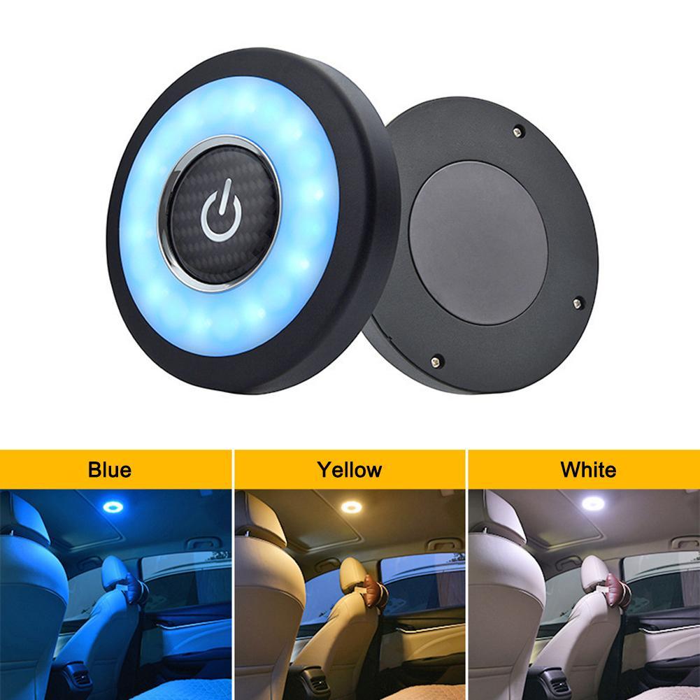 Universal 1 pcs 10x1.2 cm CONDUZIU a Luz de Leitura de Carro Lâmpada Interior Teto Lâmpada de Carregamento USB Fácil de Instalar